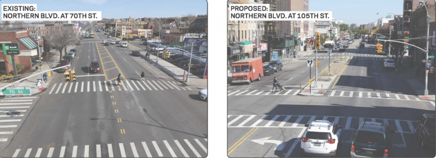 DOT to Start Safety Improvements Along Northern Boulevard This Month
